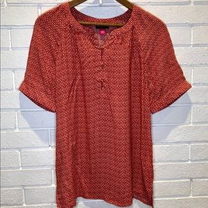 Vince Camuto short sleeve blouse small